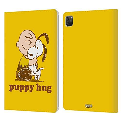 Head Case Designs Licenciado Oficialmente Peanuts Charlie Cachorro Abrazo Snoopy Abrazo Carcasa de Cuero Tipo Libro Compatible con Apple iPad Pro 11 (2020/2021)