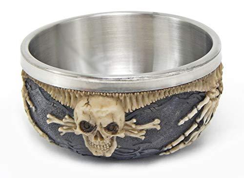 Bellaa 26553 Celtic Skull Bowl Ossuary Jewelry Stash Candy 5 inch