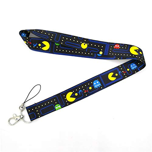 80s Retro Arcade Classic Games Maze Creative Lanyard Card ID Bagde Holder Student Hanging Neck Phone Lanyard Subway Access Card Accessories Gifts