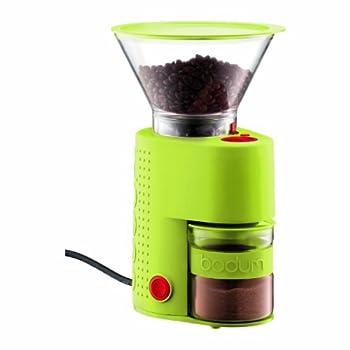Bodum Bistro Electric Burr Coffee Grinder Green
