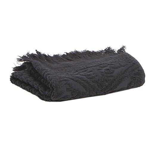 Vivaraise - Serviette invité Zoé – 30x50 cm – Tissu éponge 100% Coton Absorbant - Essuie-Mains, débarbouillette – Finition à Franges