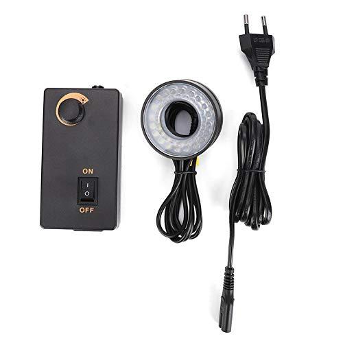LED Helligkeit Einstellbare Lichtquelle Ringlichtleuchte mit Dimmer für Videomikroskope Optisches Instrument 3.8W(European regulations(110-240V))