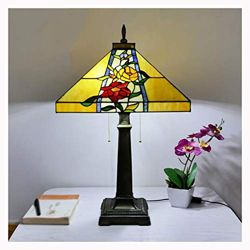 Lámparas de mesa de estilo Tiffany, lámpara de lápiz led de lápiz led de lápiz led con interruptor de cremallera. Lámparas de mesa para el estudio de la sala de estar.