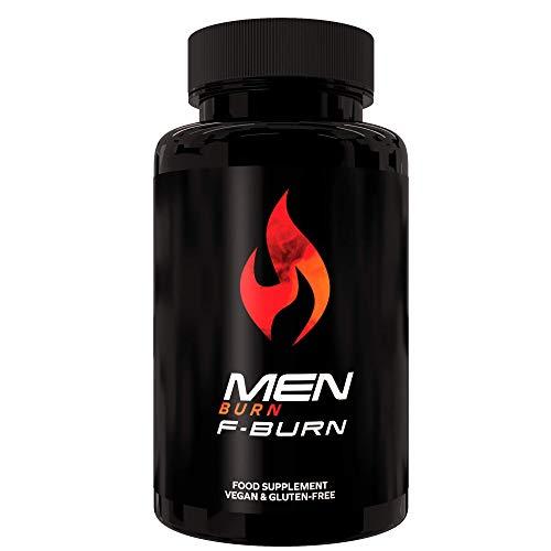 Men Burn F-Burn | Quemador de Grasa 100% Natural | Pérdida de Peso Sin Estimulantes | Poder y Resistencia de Hombres |Pastillas de Dosis Fuerte Para Keto Dieta| 60 Cápsulas Veganas|Fabricado en la UE