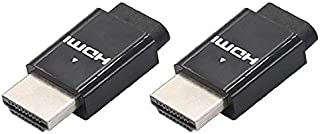 Wireless DisplayPort HDMI/DVI/VGA Pug 4K Display Emulator 60Hz (Fit-Headless 4K) for remote desktop access (HDMI 2-PACK)