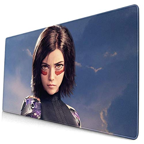 521 Alfombrilla Ratón Alita Alfombrilla Gaming Antideslizante Base De Goma Bordes Cosidos Impreso Mouse Pad para Teclado Laptop,30x80cm