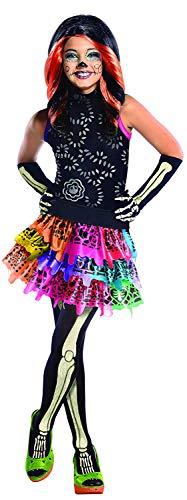 Brandsseller Monster High Skelita Calaveras Kinderkostüm Mädchenkostüm Karneval Fasching - Größe: M