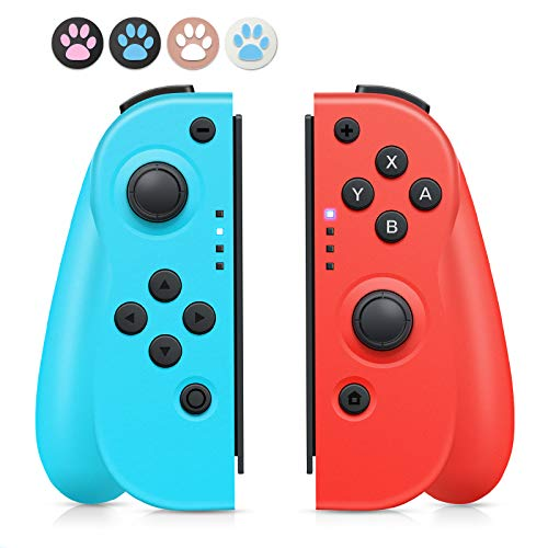 Wireless Controller per Nintendo Switch,joycon switch Bluetooth Joystick Gamepad Interruttore Controller Sostituzione per Joy con Compatibile con Nintendo Switch PRO