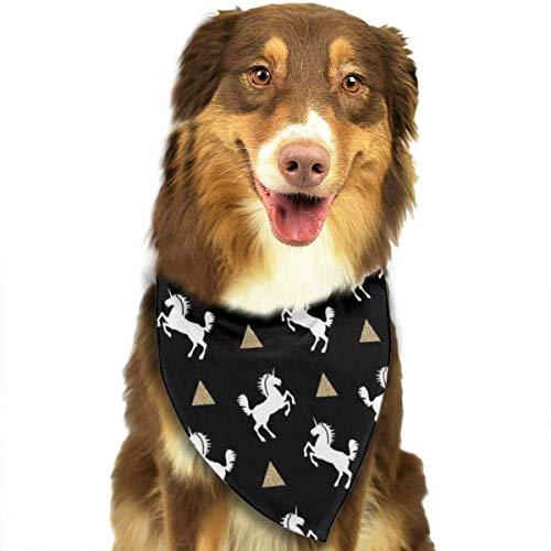 FunnyStar Hond Bandana Eenhoorn Zwart Goud Glitter Sjaals Accessoires Decoratie voor Huisdier Katten en Puppies