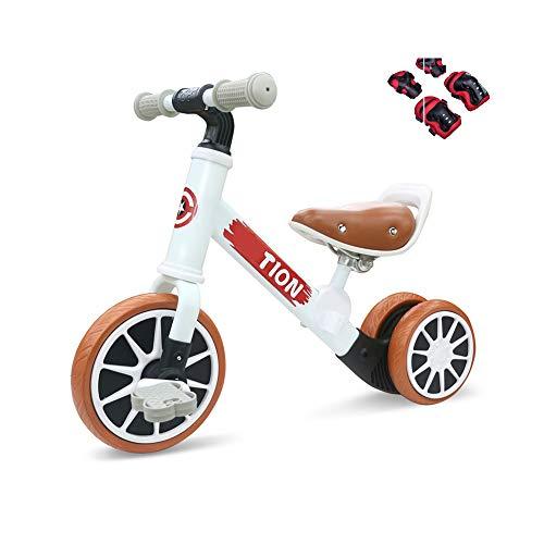 Coverp Bicicletta Scorrevole per Bambini a Doppio Uso Staccabile da 1 a 3 Anni con Bicicletta per Scooter a Doppio Uso,White