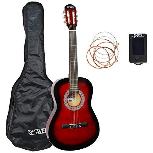 3rd Avenue STX20CRBPK Paquete de guitarra clásica de tamaño 3/4, Rojo (Redburst), Paquete