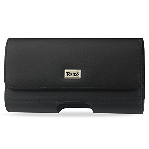 Reiko Horizontal Pouch with Card Holder Belt Clip for iPhone 6/6s - Retail Packaging - Black - HP500B-562804BK