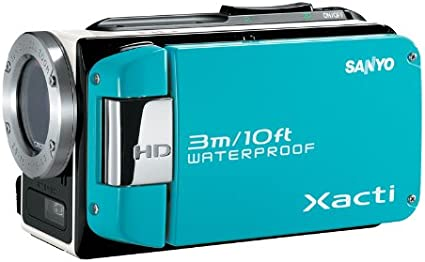 Sanyo Xacti Vpc Wh1ex Hd Camcorder 2 5 Zoll Blau Kamera