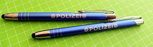 Designstudio Fritsche Kugelschreiber TouchPen polizei Blau 2 Stk