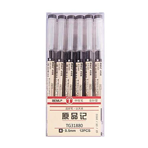 Gel Ink Pen Extra fine point pens Ballpoint pen 035mm Black For japanese Office School Stationery Supply 12 Packs