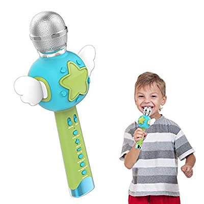 TiMi Tree Karaoke Microphones for Kids Singing with Voice Recorder Changer Nursery Rhymes, Kids Karaoke Machine for Toddler Girl Toys Best Christmas Birthday Gifts for Girls Age 2 3 4 5 6 by TiMi Tree