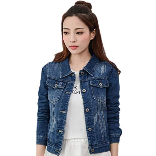 NZJK Denim Jacket Lichtblauw Bomber Korte Jeans Jas Casual Ripped Denim Outwear 2Xl Slim Lange Mouw Zwarte Jeans Jack Jas