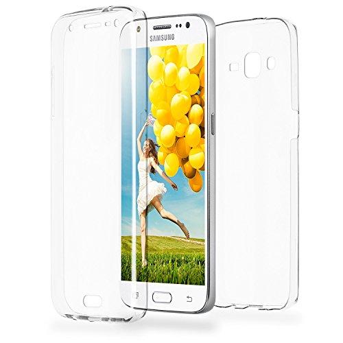 MoEx Funda Protectora 360º de Silicona Compatible con Samsung Galaxy J5 (2015) | Transparente, Transparent