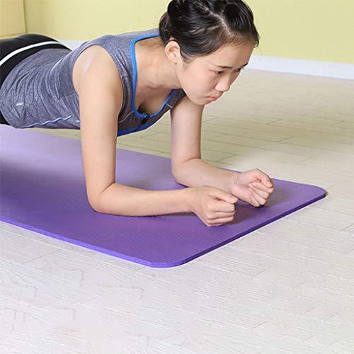 Jian yogamat, slipvaste fitnessmat, 183 x 60 cm, 10 mm, goede yogamat, niet alleen voor beginners, sticky mat, gymnastiekmat, vrij van schadelijke stoffen, koop er een gratis