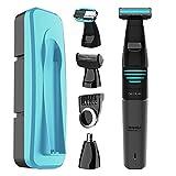 Cecotec Afeitadora Multigrooming 5 en 1 BAMBA PRECISIONCARE EXTREME 5IN1 con batería de litio, cuchillas de acero inox y waterproof.