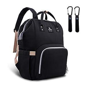 Hafmall Diaper Bag Backpack – Waterproof Multifunctional Large Travel Nappy Bag