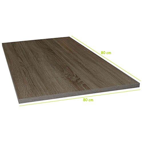Tischplatte aus Holz für Schreibtische - Holzplatte perfekt geeignet für Schreibtisch, Couchtisch/Esstisch - Verschiedene Größen & Farben (80x80cm, Trüffel Eiche)
