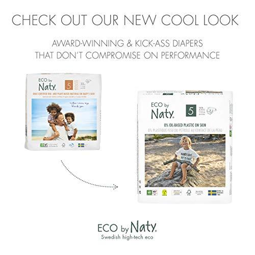 Eco by Naty, Taille 5, 80 couches, 11-25kg, Couche écologique fabriquée à partir de fibres...