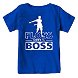 Kids Floss Like a Boss Flossin Dance Youth T Shirt (Royal, Youth S)