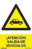 Normaluz RD31076 - Señal ¡Atención! Salida De Vehículos PVC Glasspack 0,7 mm 30x40 cm con CTE, RIPCI