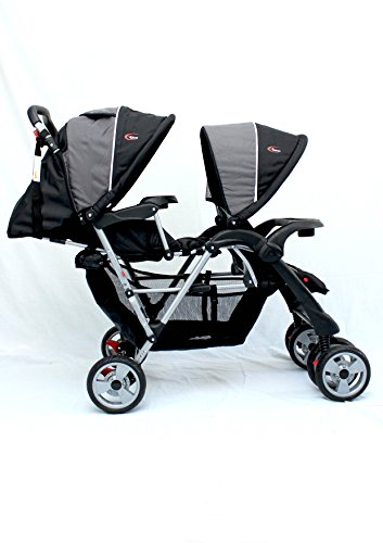 Mamakiddies Tandem Stroller Pram Twin New Born Toddler Baby Jogger