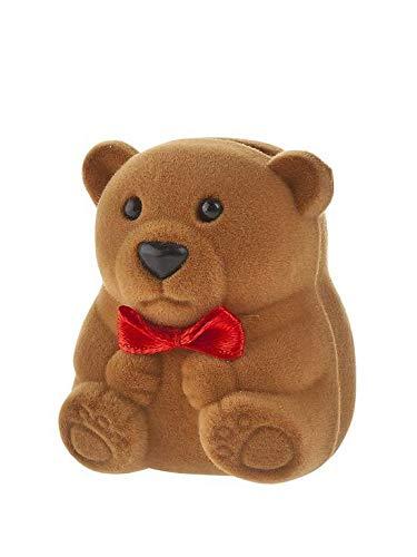 Children's enamel teddy bear stud earrings/novelty gift box included