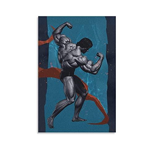 XCNGG Póster de Arnold Gym, pintura decorativa, lienzo, arte de pared, carteles para sala de estar, pintura para dormitorio, 16x24 pulgadas (40x60cm)