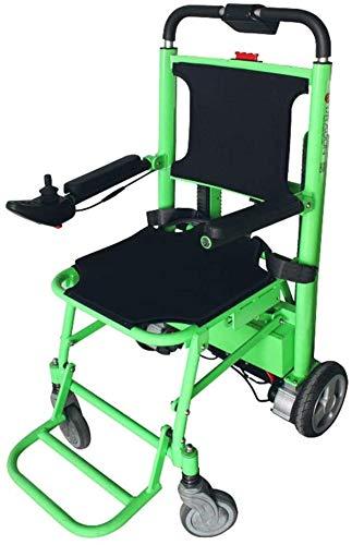 Erik Xian Elektrorollstuhl Elektro-Rollstuhl, klappbaren tragbaren Treppen Rollstuhl, Wiederaufladbare treppengängigen Rollstuhl Bequemes und sicheres Reisen
