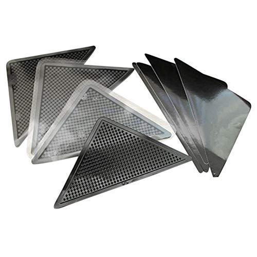 Jourbon Teppich Teppich Mat Grippers rutschfeste Anti-Rutsch-Wiederverwendbare Waschbare Silikon-Grip 8Pcs Silikon Rug Grippers