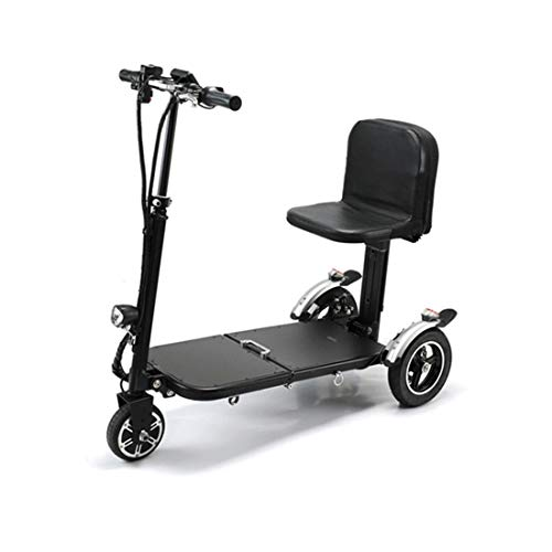 Quino Elektrisches Dreirad für Erwachsene Faltbare DREI Räder Mini-Trikes Gepäck Roller Elektroscooter tragbare Reise Flugzeug Aviation Safe Lightweight Motorized Power Rollstuhl