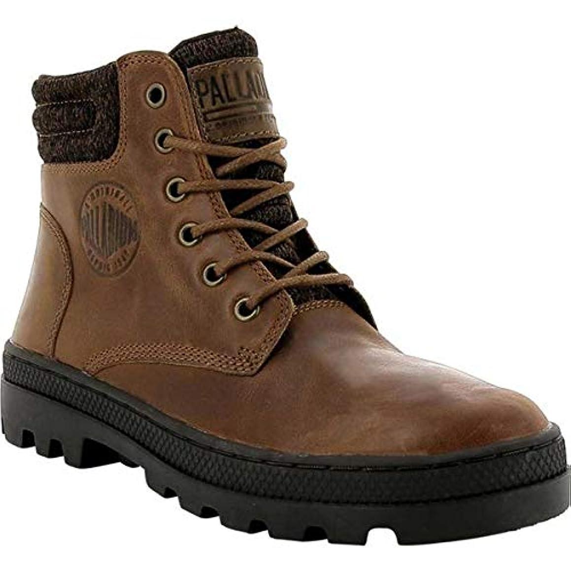 怖い日付付き花[パラディウム] レディース ブーツ&レインブーツ Pallabosse HI Cuff Leather Boot [並行輸入品]