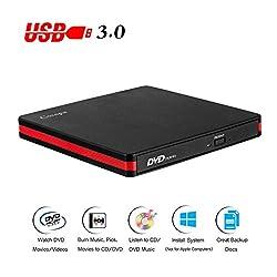 professional Cocopa External CD-DVD Drive USB3.0 Portable CD DVD +/- RW Slim DVD / CD-ROM Rewriter Burner…