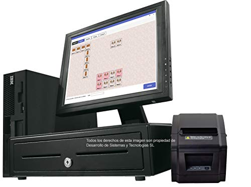'TPV komplett mit CPU Intel CORE i38GB + Monitor Touchscreen 19Nicht + Cajon + Bondrucker Etikettendrucker