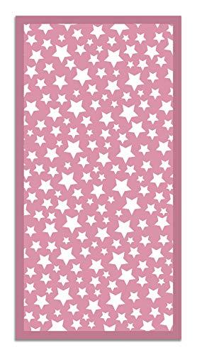 Panorama Tapis du Sol Vinyle Étoiles Rose 60x110 cm - Tapis de Cuisine en PVC Linoléum Vinyle - Antidérapant Lavable Ignifuge - Tapis Chambre Enfant - Protection du Sol
