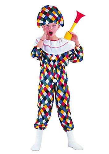Fiori Paolo- Arlecchino Costume Bambino, Multicolore, M (5-7 anni), 61132.M