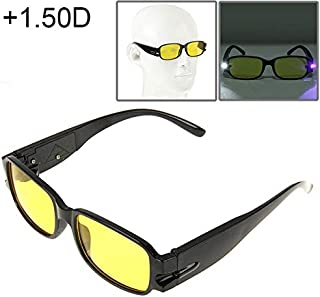 WTYD Clothing and Outdoor Accessories UV Protection Yellow Resin Lens Reading Glasses with Currency Detecting Function, 1.00D Outdoor Equipment (Color : Color2)