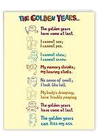 Golden Years誕生日面白い用紙カード 1 Jumbo Birthday Card & Enve. (J0449)