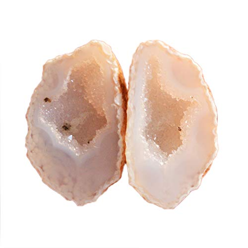 Ravishing Impressions Jewellery Natural Geode Druzy Par Gemstone, Tamaño 21x12x6 MM, Pendiente Piedra, Druzy Mexicano, Druzy Nodule, Baby Tobasco, Drusy, Druzzy AG-15676