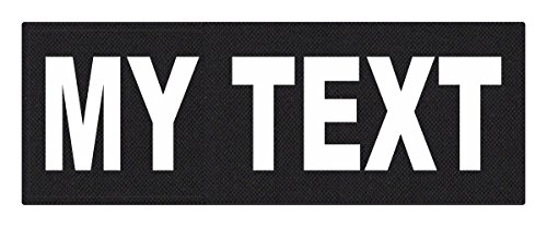 Custom Tactical ID Patch - 11x4, on 500 Denier Nylon Fabric with Hook Backing - Black