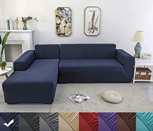 X-ZBS Sofabezug,L-förmiges Ecksofa mit elastischem elastische Stretch Sofabezug(L-förmiges Ecksofa sollte Zwei kaufen)