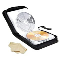This DVD case let you take your favorite movies on the road with you when you're traveling. Organizing all kinds of compact discs: Audio CD's, DVD, and Video Game Discs.Good choice for compact CD and DVD storage. Zipped up tight, ideal for taking you...