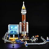 Kit di Illuminazione A LED per Lego City Space Port Razzo Spaziale E Centro di Controllo,Compatibile con Il Modello Lego 60228 Mattoncini da Costruzioni - Non Incluso nel Modello