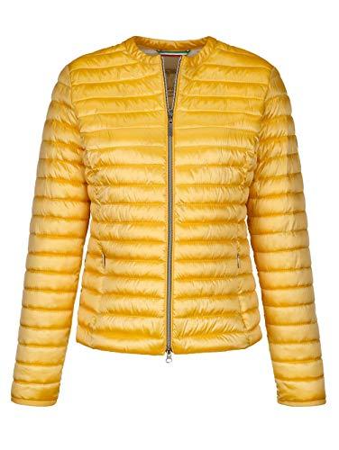 Alba Moda Jacke mit Steppungen Gelb