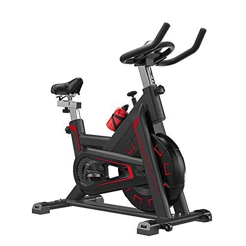 YUANP Ellittica Fitness,ciclette Casa Bike Spinning Ciclette per Casa Total Crunch per da Casa Pieghevole Orizzontale Anziani Spinbike Camera Ellittica Bici da Spinning Cyclette da Seduti,Red