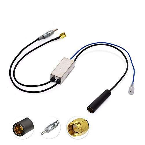 Bingfu DAB KFZ Antenne Splitter FM/AM an DAB+ Konverter SMA Stecker Adapter Signalstärke Verstärker Empfänger Kompatibel mit Pioneer Kenwood Sony Clarion Pure Jvc Alpine AutoRadio MEHRWEG